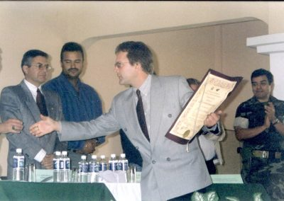Patrick Atkinson receiving award