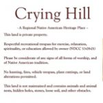 Crying Hill visitor signage